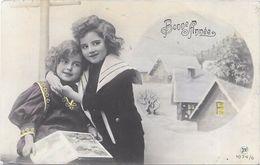 CPA COLORISEE FETE - BONNE ANNEE - Portrait De Deux Adorables Fillettes - LYO86 - - New Year