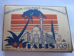 1931 EXPOSITION COLONIALE INTERNATIONALE CARNET DE 10 PHOTOS - France