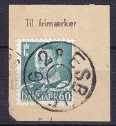 Denmark 1950 Afa 313 Fr. IX. Stjernestempel Star Cancel (0272) ESBJERG 2. On Piece - Danemark