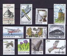 Denmark; 11 Used Stamps; Mainly High Valus With Fine Cancellation. - Danemark