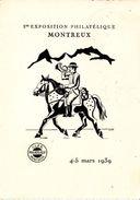 1ER EXPOSITION PHILATELIQUE DE MONTREUX - 4-5 MARS 1939 - DIVERS CACHETS - Switzerland