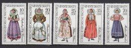 DDR / Historische Sorbische Trachten / MiNr.: 2210-2214 - Unused Stamps