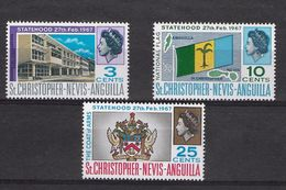 EDY 428 - CHRISTOPHER NEVIS ANGUILLA 1967 , Tre Valori Integri  ***  Statehood - St.Christopher-Nevis-Anguilla (...-1980)