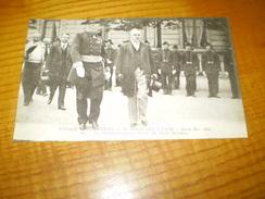 Le Président De La République Raymond Poincaré à Lyon Quitte L'école De Santé Militaire 1914 - Réceptions