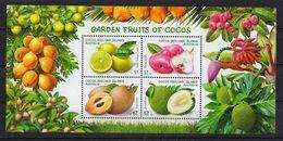 COCOS ISLAND (KEELING) MINIATURE SHEET GARDEN FRUITS - Cocos (Keeling) Islands
