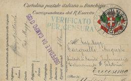 FRANCHIGIA POSTA MILITARE TRUPPE OCCUP 1 1916 VALONA ALBANIA OSPEDALE CAMPO 013 - 1900-44 Vittorio Emanuele III