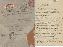 BUSTA POSTA MILITARE 25 1917 KOJSKO SLOVENIA OSPEDALE CITTA MILANO X PALERMO - 1900-44 Vittorio Emanuele III