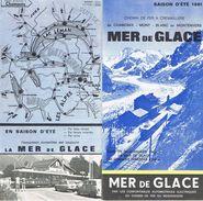 1981 MER DE GLACE-Chemin De Fer A Cremaillere De CHAMONIX-MONT BLANC Au MONTENVERS-Depliant- - Europa