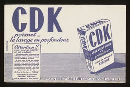 Buvard - CDK - Un Produit LESIEUR - Blotters