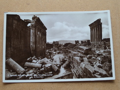 BAALBEK Ruines Entre Les Deux Temples Jupiter Et Bacchus ( 8 - Wakim Awad ) Anno 19?? ( Details Zie Foto´s ) !! - Liban