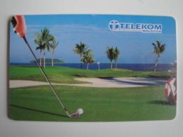 1 Chip Phonecards From Malaysia - Telekom Malaysia - Golf - Malaysia