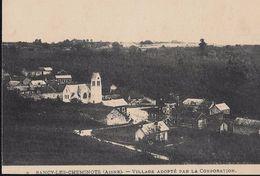 CARTE POSTALE ORIGINALE ANCIENNE : SANCY LES CHEMINOTS VILLAGE ADOPTE PAR LA CORPORATION AISNE (02) - Other Municipalities