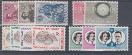 BELGIUM MNH``COB 1125/27, 1150/51, 1159/62 & 1169/71 - Unused Stamps