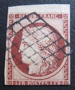 LOT DF/136 - CERES N°6 BORD DE FEUILLE NORD - GRILLE NOIRE - Cote : 950,00 € - 1849-1850 Cérès