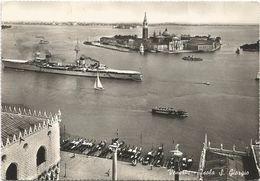 Z3118 Venezia - Isola Di San Giorgio - Nave Militare Incrociatore Raimondo Montecuccoli - Navi Ships / Viaggiata 1960 - Guerra