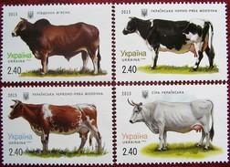 Ukraine 2015   Cows  4 V  MNH - Ukraine