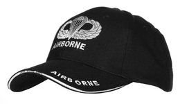 """Casquette Noire AIRBORNE """" Parachute """" PARATROOPER JEEP CAP US VO MILITARIA US - Casques & Coiffures"""