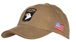 Casquette Beige AIRBORNE 101st SCREAMING EAGLES JEEP CAP US VO MILITARIA US PARA - Casques & Coiffures