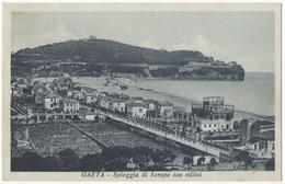 LT3 !!! GAETA SPIAGGIA DI SERAPO CON VILLINI 1930 F.P. !!! - Altre Città