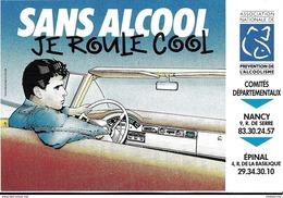 AUTOCOLLANT AUTOCOLLANTS PUBLICITE PREVENTION ACCIDENT ALCOOL AU VOLANT  COMITE NANCY EPINAL - Autocollants