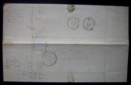 1872 Coupiac (Aveyron) Joli Cachet Sur Lettre Boîte Rurale A La Croux (Timbre Manquant ) - 1849-1876: Periodo Clásico