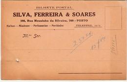 Commercial Card * Portugal * Porto * Silva, Ferreira & Soares * 30's * Holed - 1910-... République