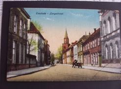 Carte Pays Bas Enschede - Langestraat Cachet Franc De Port Militaires étrangers Internés Dans Les Pays Bas. Rare Griffe. - 1914-18