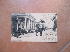 CUBA Habana L'Avana Casas Quintas Matanzas Animata Carrpzza Cavalli Timbro Arrivo - Cartoline