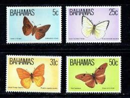 1983  Butterflies  Complete Set Of 4  MNH ** - Bahamas (1973-...)