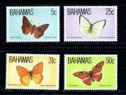 1983  Butterflies  Complete Set Of 4  MNH ** - Bahama's (1973-...)