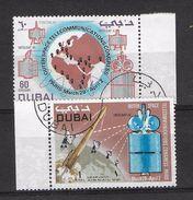 EDY 447 - DUBAI , Posta Aerea Due Valori Usati . Spazio - Dubai