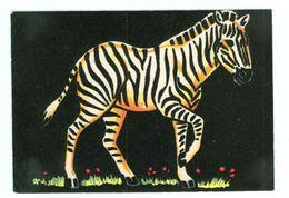 Carte En Feutrine -- ZEBRE - (Ets Carrere Perpignan - Distribué Par Sepheriades) - Cartoline