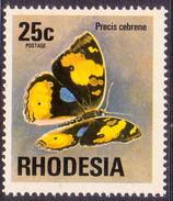 RHODESIA 1974 SG #505 25c MNH Butterfly - Rhodesia (1964-1980)