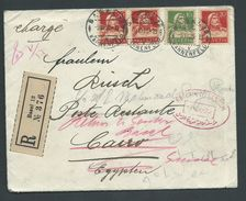 Egypt 1925 Registered Inward But Undelivered And Returned Cover From Basel Switzerland, Full Contents Within - Covers & Documents