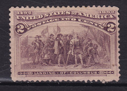 United States 1893 Mi. 74  2c. Columbus MNG (Mint No Gum) * (2 Scans) - Ungebraucht