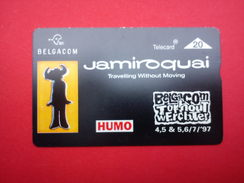 Jamiroquai Phonecard Rock Werchter Outdoor Festival 1997 Rare - Affiches & Posters