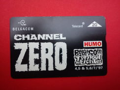 Channel Zero Phonecard Rock Werchter Outdoor Festival 1997 Rare - Posters