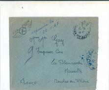 Enveloppe-  F.M.   Poste Aux Armées  ( Par Avion, Avec Son Embleme ) à Destination De Marseille ( 13 ) - Ohne Zuordnung
