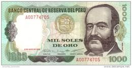 PERU 1000 SOLES DE ORO 1979 P-118b UNC (03.05.1979) [PE118b] - Pérou