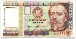 PERU 100000 INTIS 1989 P-145 UNC  [PE145] - Peru
