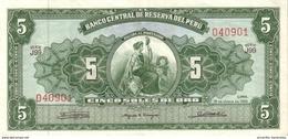 PERU 5 SOLES DE ORO 1965 P-83a UNC (18.06.1965) [PE083a3] - Peru