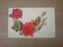 Cpa, Bouquet De Roses,chocolaterie Confiserie Derbaix Frères  (H2) - Advertising