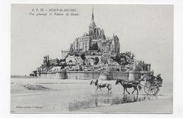 LE MONT ST MICHEL - N° 23 - VUE GENERALE ET VOITURE DE GENETS - CPA NON VOYAGEE - Le Mont Saint Michel