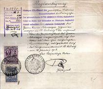 German Elsass Lothringen / Alsace Lorraine Stempelmarke / Revenue Stamp,on Document,see Scan - Dienstzegels
