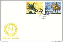 Lote CU4176-79F, Cuba, 2001, 2 SPD-FDC, Museo Napoleonico, Napoleonic Museum, Napoleon - Cuba
