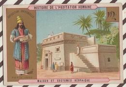 7AJ205 CHROMO HISTOIRE DE L'HABITATION HUMAINE MAISON ET COSTUMES  HEBRAIQUE 2 SCANS - Histoire
