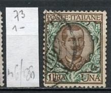Italie 1901 Y&T N°73 Oblitéré - Used - Gestempelt - 1900-44 Victor Emmanuel III
