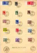 1929    Armoiries Pontificale Et Express, Avec Cachet Commémoratif, 26 / 38 + Ex 1 / 2, Cote 95 €, - Lettres & Documents