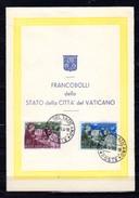 1954   800° Mort De St Bernard Sur Feuillet Postal, 189 / 190 - Vatican