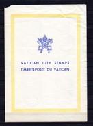 1957   Lot Commémoratif Sur Feuillet Postal, (feuille Froissée) - Vatican